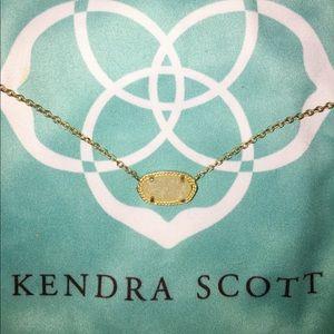 Kendra Scott Elisa Necklace - White Drusy/Rosegold